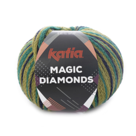 Katia Magic Diamonds 557 - Groen-Donker blauw