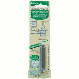 Clover Refill Cartridge Chaco Liner Pen Silver
