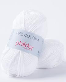 Phildar Coton 4 Blanc