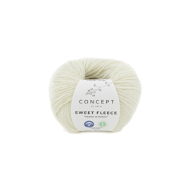 Katia Concept Sweet Fleece 60 - Ecru