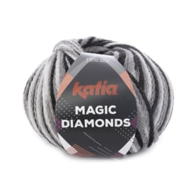 Katia Magic Diamonds 51 - Zwart-Grijs-Wit