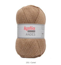 Katia Andes Socks 201 Camel