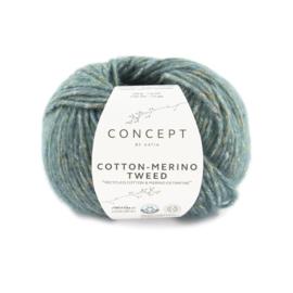 Katia Concept Cotton merino tweed 504 - Donker Turquoise