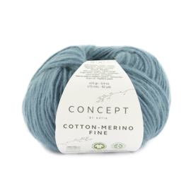 Katia Concept Cotton merino Fine 95 - Groenblauw