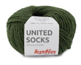 Katia United Socks 22 - Mosgroen