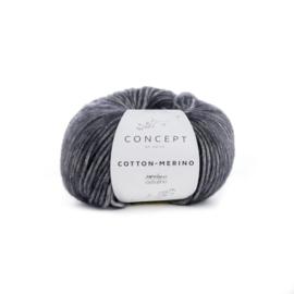 Katia Concept Cotton - Merino 107 - Donker grijs