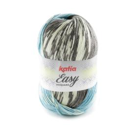 Katia Easy Jacquard 309 - Turquoise-Reebruin