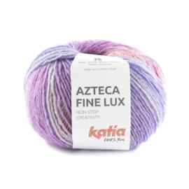 Katia Azteca Fine Lux 412 - Bleekrood-Licht oranje-Turkooisblauw