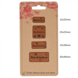 Opry Skai-leren labels Made with love for you