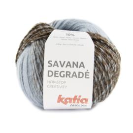 Katia Savana Degrade 105 - Blauw-Hemelsblauw-Bruin