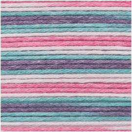 Rico Baby B Cotton Soft Print DK 020 roze-turquoise