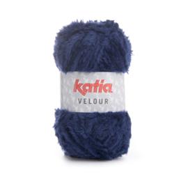 Katia Velour 73 - Donker blauw
