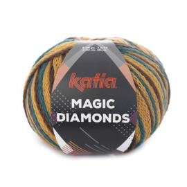 Katia Magic Diamonds 56 - Groenblauw-Oker-Bruin