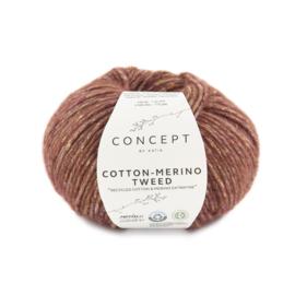 Katia Concept Cotton merino tweed 500 - Rood