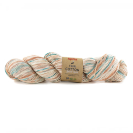 Katia Fair Cotton Hand Dyed 700 - Roestbruin-Reebruin-Groenblauw
