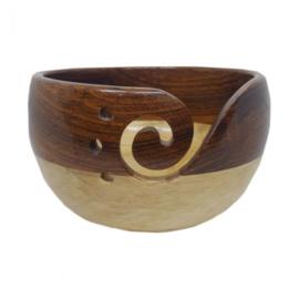 Scheepjes Yarn bowl rozenhout en dennenhout