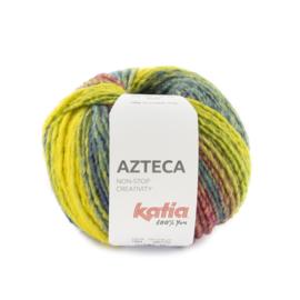 Katia Azteca 7884 - Turquoise-Geel-Blauwgroen