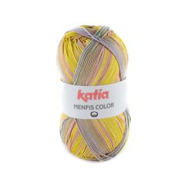 Katia Menfis Color 109 - Pistache-Bleekrood-Lila-Turquoise