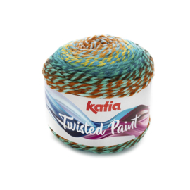 Katia Twisted Paint 153 - Roestbruin-Waterblauw