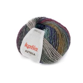 Katia Azteca 7868 - Blauw-Groen-Wijnrood