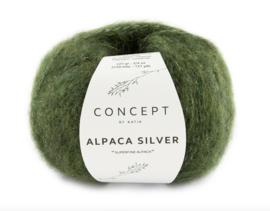 Katia Concept Alpaca Silver 272 - Donkergroen-Zilver