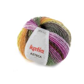 Katia Azteca 7869 - Zwart-Bleekrood-Groen-Geel