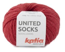Katia United Socks 18 - Aardbeirood