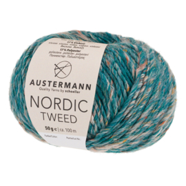 Austermann Nordic Tweed 09 zeeblauw