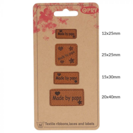 Opry Skai-leren labels Made by papa