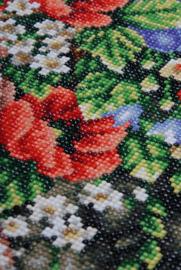 Lanarte diamond painting kit meisje met bloemen