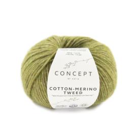 Katia Concept Cotton merino tweed 502 - Groen