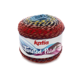 Katia Twisted Paint 155 - Donker blauw-Rood