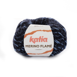 Katia merino Flamé 113 - Nachtblauw-Donker blauw