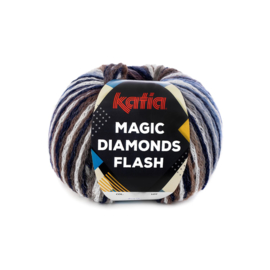 Katia Magic Diamonds Flash 102 - Blauw-Wit-Grijs-Medium blauw