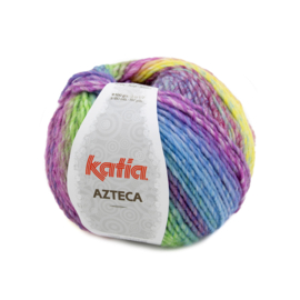 Katia Azteca 7871 - Oranje-Fuchsia-Groen-Blauw-Lila
