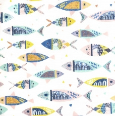 P61 - Colour fishes Popeline