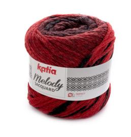 Katia Melody Jacquard 254 - Rood-Zwart