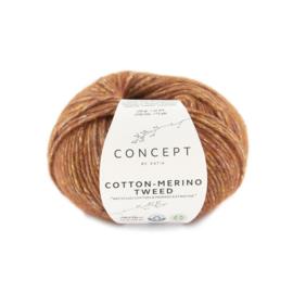 Katia Concept Cotton merino tweed 501 - Roodoranje