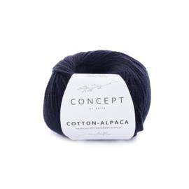 Katia Concept Cotton-Alpaca 86 - Zwart