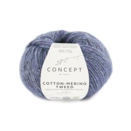 Katia Concept Cotton merino tweed 508 - Blauw