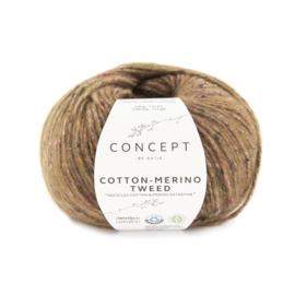 Katia Concept Cotton merino tweed 505 - Bruin