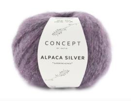 Katia Concept Alpaca Silver 274 - Lila-Zilver