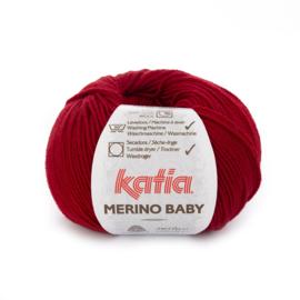 Katia Merino Baby 50 - Wijnrood