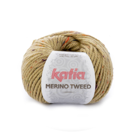 Katia Merino Tweed 410 - Olijfgroen