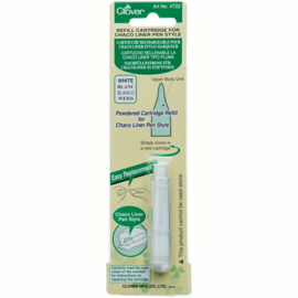 Clover Refill Cartridge Chaco Liner Pen White