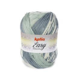 Katia Easy Jacquard 303 - Groen-Waterblauw