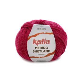 Katia Merino Shetland 59 - Framboosrood