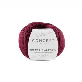 Katia Concept Cotton-Alpaca 102 - Wijnrood