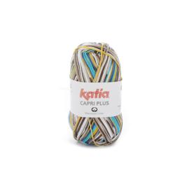 Katia Capri Plus 106 - Bruin-Blauw-Oker