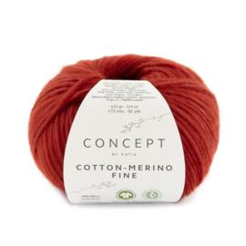 Katia Concept Cotton merino Fine 89 - Rood
